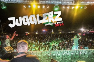 Jugglerz am Dream Weekend in Jamaica
